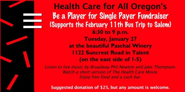 HCAO Single Payer Fundraiser at Paschal Winery