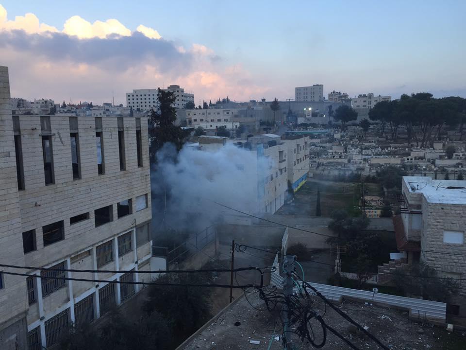 teargas in Aida